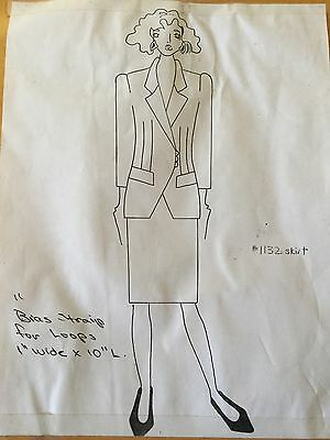 Vintage 80s 90s Pop Fashion Couture Pattern #758 Jacket~Macy's Clothing Line NY