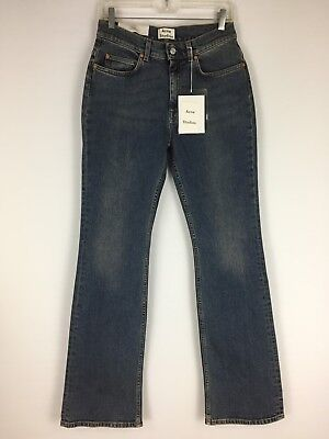 $260 NWT Acne Studios Womens Sz 29/32 Medium Wash Lita Vintage High Waist Jeans