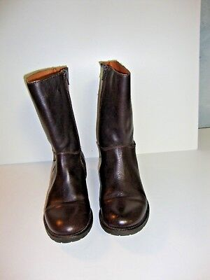 J.Crew  Short Boots Brown Leather Size 8 *Not from Outlet