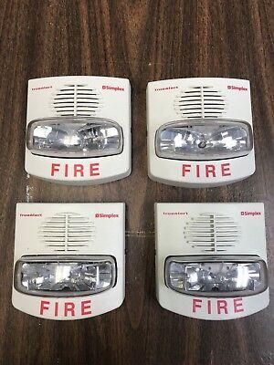 Lot Of 4 White Simplex Horn Strobe 4906-9129 20-30 Vdc White Used