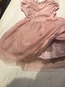 Pink Next Lili Gaufrette Tutu Skirt Dress 3 4 Party Girls