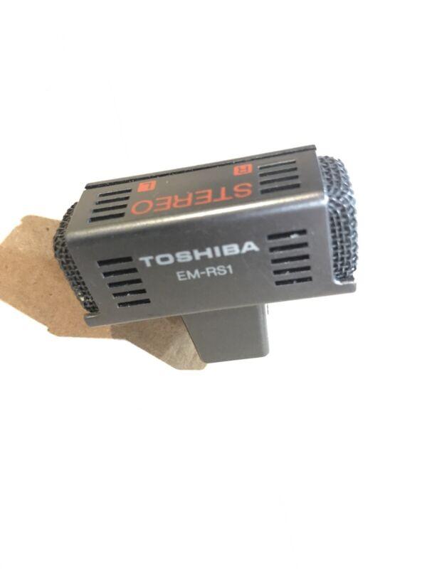 Vintage TOSHIBA MIC MICROPHONE Black Clip Stereo Mic 3.5mm Mini Jack Walkman