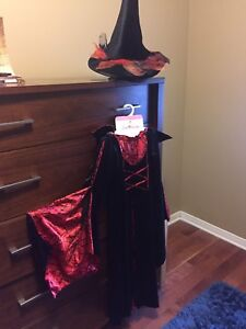 Halloween red and black witch costume (spiderella)