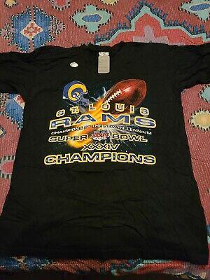 NFL St Louis Rams Super Bowl Champions T Shirt XL NEW
