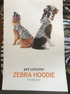NEW Size Medium Black White Zebra Dog Pet Costume Halloween Animal - Zebra Hunde Kostüm