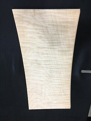 Curly Flat Sawn Maple Raw Wood Veneer Sheets 7.5 X 15.5 Inches 142nd Lot 227