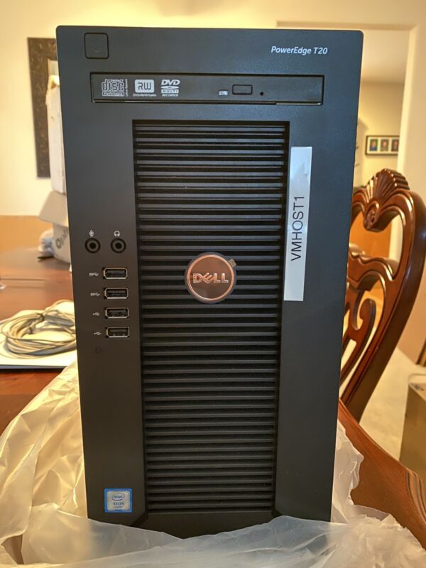 Dell PowerEdge T20 Server Tower Xeon E3 1TB 32GB ram DVD