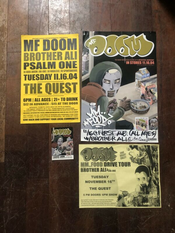 4x MF DOOM MM.. FOOD Drive Tour 2004 Minneapolis Rhymesayers Brother Ali Poster