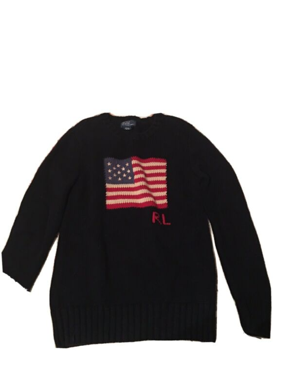 Ralph Lauren Polo RL, Kids Medium Amercan Flag Sweater!