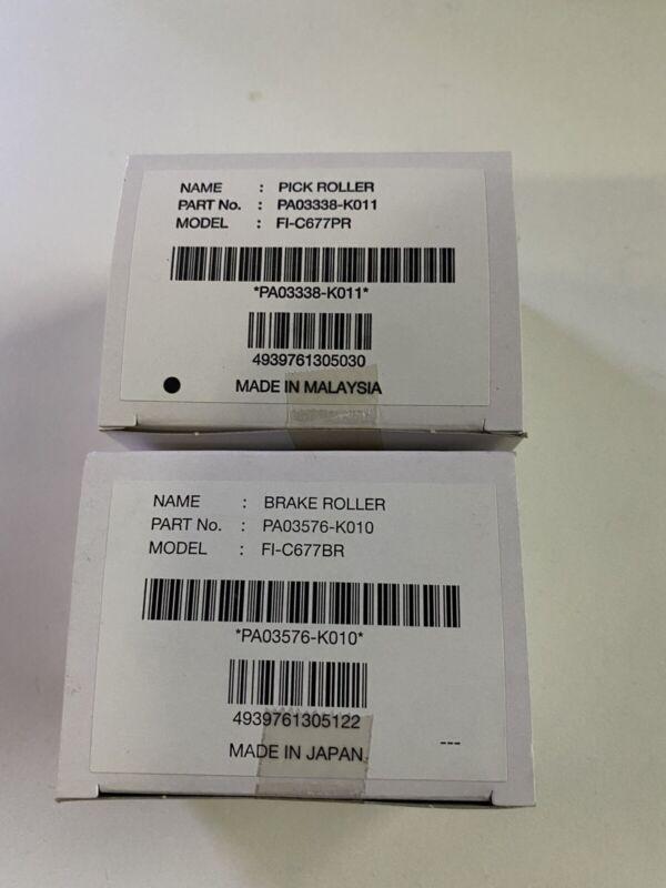 Genuine OEM Fujitsu PA03338-K011 PA03576-K010 Pick/Brake Roller kit fi-6670/6770