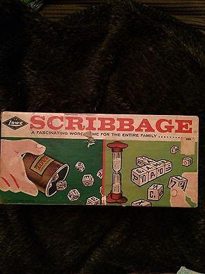 Game Scribbage Word Game Vintage Fun Party