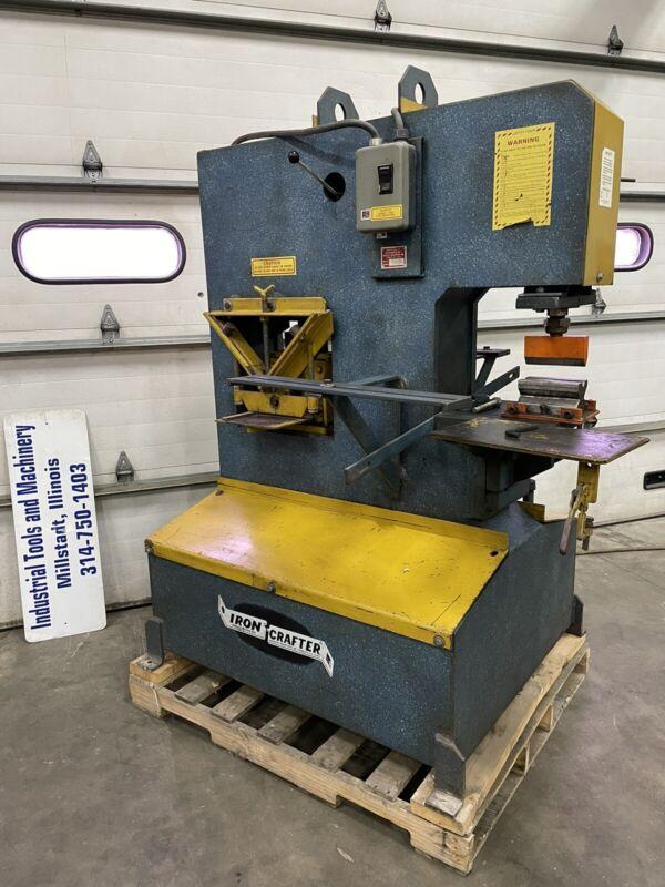 Iron Crafter Hydraulic Ironworker 40 Ton Angle Flat Round Shear Press Brake Die