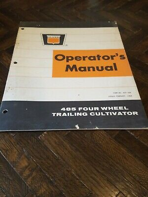 Original Oliver 485 Four Wheel Trailing Cultivator Operators Manual 437104 0269