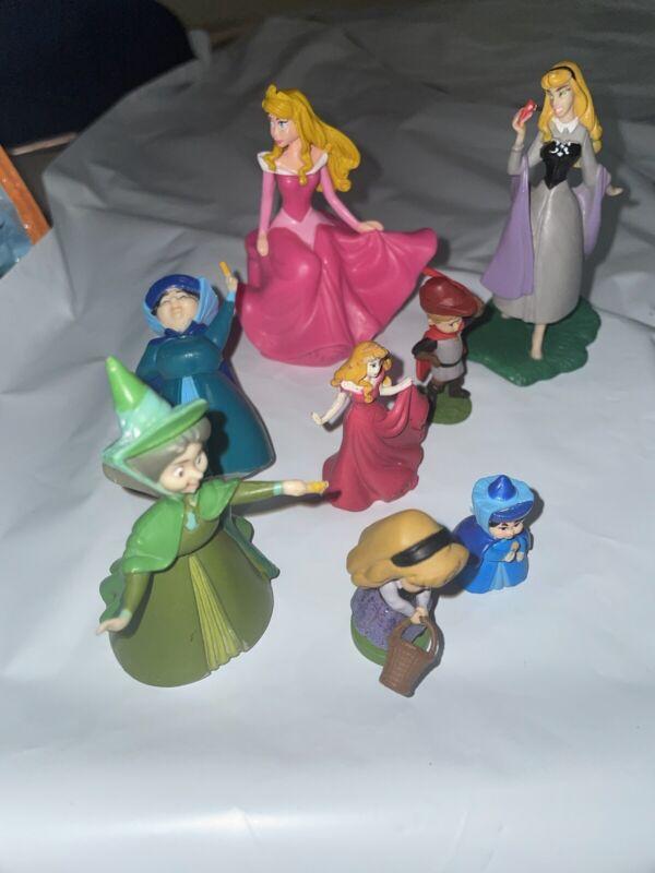 Disney Maleficent Sleeping Beauty Figures Lot Of 8