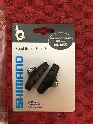 """Sunlite Brake Shoes Road Retro-Red Card 1 pair x 2 FREE SHIPPING /"""" 2 sets /"""""""