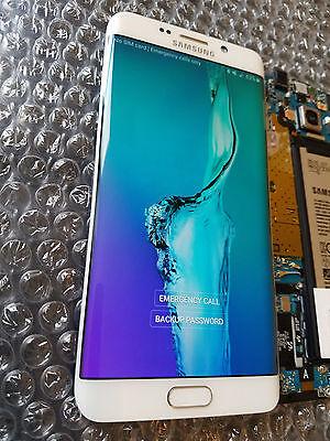New Samsung Galaxy S6 Edge Plus G928f G928 Lcd Frame White Digitizer   Light Sbi