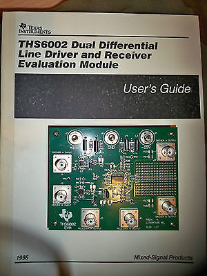 Texas Instruments Ths6002 Dual Diff. Line Driver Receiver Evaluation Board
