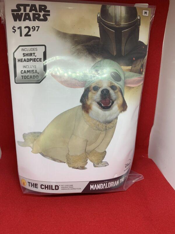 Disney Star Wars The Mandalorian Baby Yoda Pets Puppy Dog Costume  Sz Medium