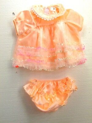 NEW DRESS FOR BABY GIRLS SIZE 3 MONTHS + PEACH COLOR  WITH DIPPER COVER J3