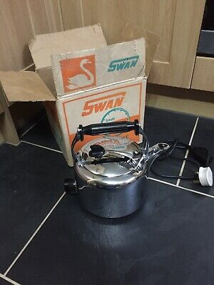 RARE VINTAGE SWAN  ELECTRIC KETTLE Made in England Boxed