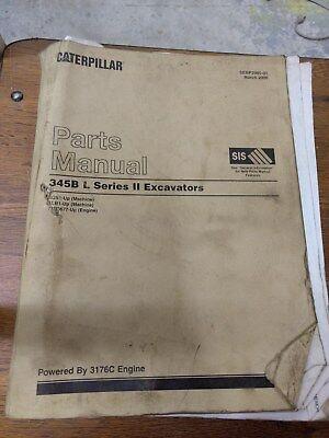 Caterpillar Parts Manual 345b L Series Ii  Excavators