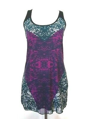 Womens Mesh-overlay (Cabi Womens Heart Of Cabi Mesh Overlay Multicolor Tank Top Size XS)