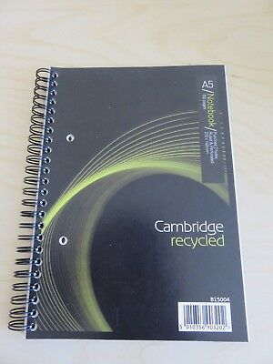 A5 Notebook Spiral bound  Cambridge Recycled