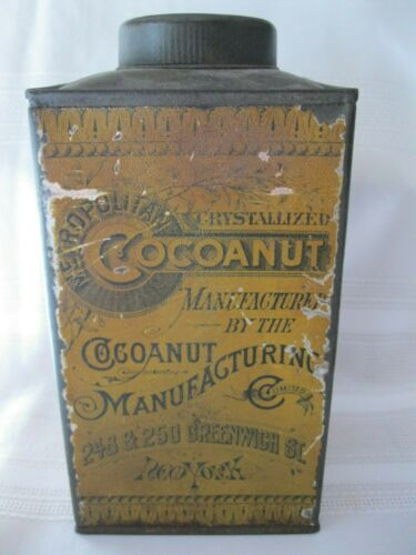 Antique Metropolitan Cocoanut Coconut Tin