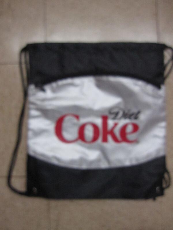 New Diet Coke Nylon Cinch Sack Back Pack Bag - FREE SHIPPING