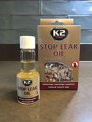 K2 STOP LEAK OIL Stops Engine Oil Leaks / REJUVENATES SEALS & GASKETS - 50 ml