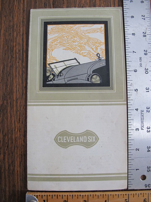 WoW Original 1920 Cleveland Six Automobile Dealers Sales Advertising Brochure