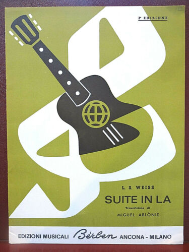 """Vintage: """"Suite in La"""" by Leopold Silvius Weiss for Solo Guitar"""
