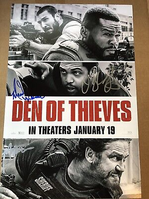 3x Signed Den Of Thieves O'Shea Jackson Jr. Mo McRae Meadow Williams Autograph