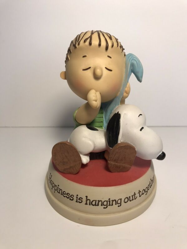 """Hallmark Peanuts Gallery Linus & Snoopy, Happiness is Hanging Out Together 5"""""""