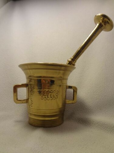 Antique 1884 Mortar & Pestle