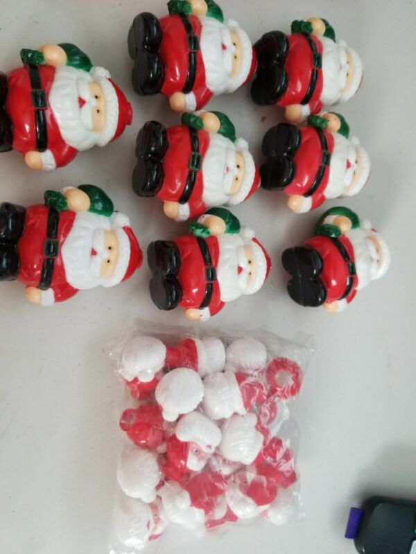 Lot Of 28 Vintage Santa Light Covers Christmas