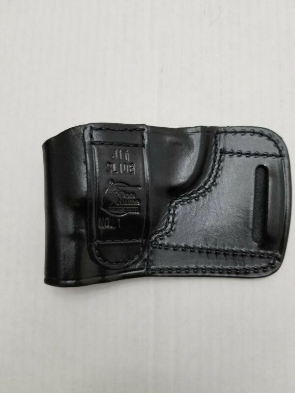 RH Black Leather Belt Slide Don Hume Holster