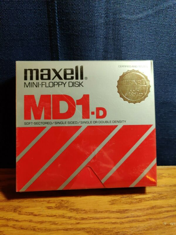 MAXELL MD1-D 5.25 SINGLE OR DOUBLE DENSITY DISK 10 PACK - NOS VERY NICE!!!!