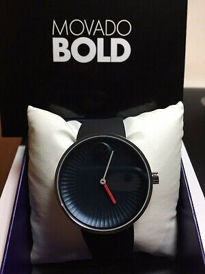 Brand New Movado Edge Blue Dial Silicone Men's Watch 3680004 w/tags and warranty
