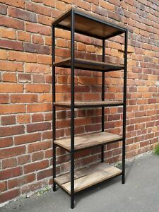 Industrial Chic Shelving Unit Bookcase Room Divider Retro Metal Display Shelves