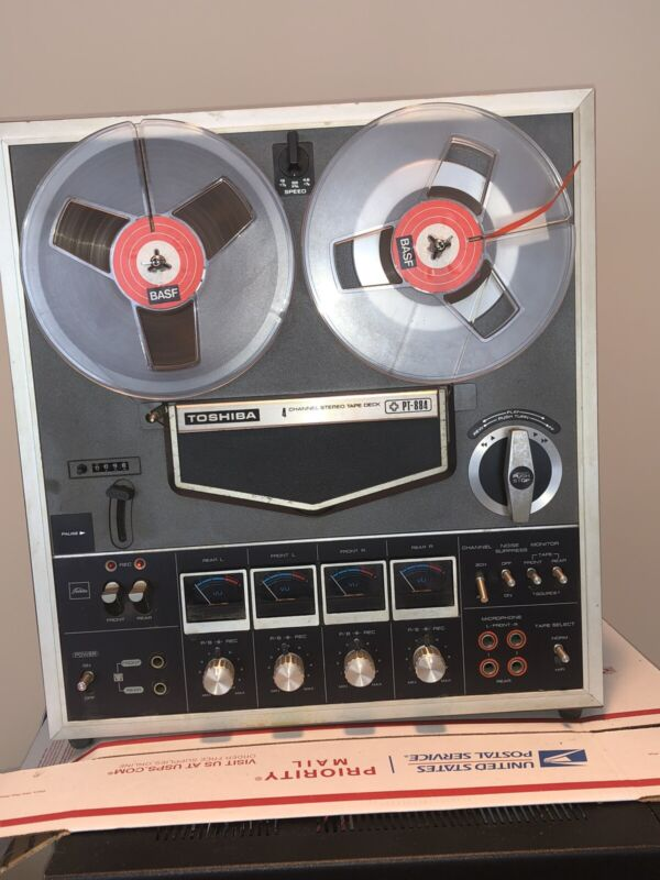 Toshiba PT-884 4 Channel Rare Classic Reel to Reel,Working but needs maintenance