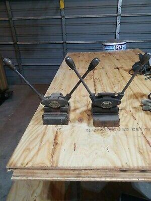 Two Clipper Belt Lacer No. 3 - 6 Antique Belt Lacing Tools