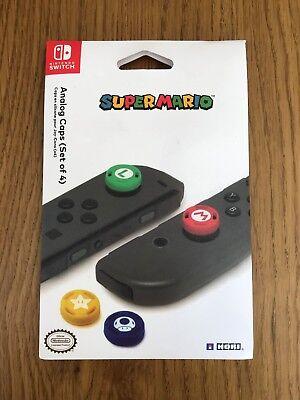 Official Licensed Super Mario Thumbstick Caps Nintendo Switch Controller Joycon