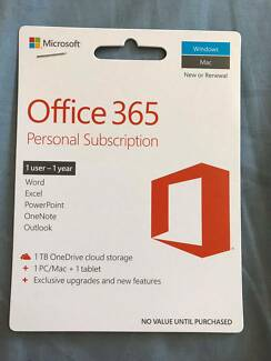 Office 365 , 1TB OneDrive cloud storage + 1 PC/Mac+1 Tablet