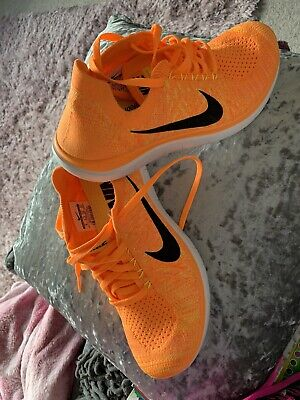 Nike Free Run Fly Knit Bright Orange  Size 5.5