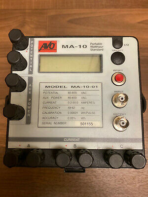 Avo Portable Watthour Meter Standard Model Ma-10 Great Condition