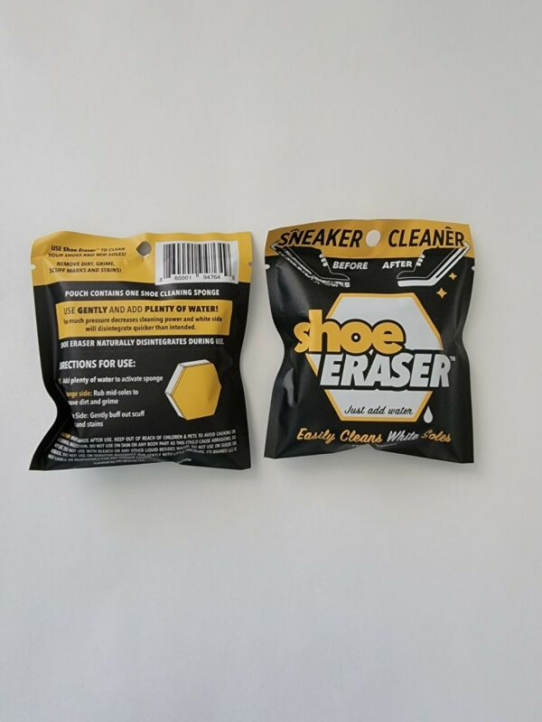 (2) X SHOE ERASERS White Sole Sneaker Cleaner Clean Your Kicks !