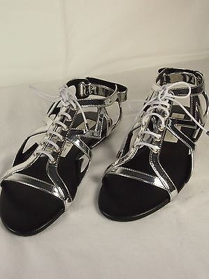 Stella McCartney Women's Metallic Silver Lucy Star Sandals Sz 36 Reg$565.00