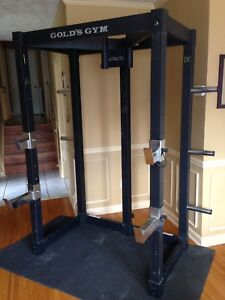 Power station cage, squat rack