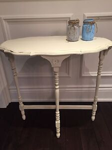 Rustic Shabby Chic French Entryway Hall Side End Table